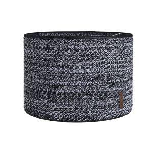 Abat-jour River noir/blanc mêlé - Ø30 cm