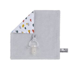 Attache tétine Leaf gris argent