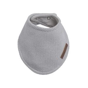 Bavoir bandana Classic gris argent