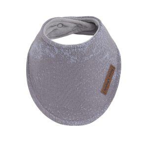 Bavoir bandana Marble cool grey/lilas