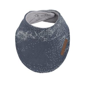 Bavoir bandana Marble granit/gris