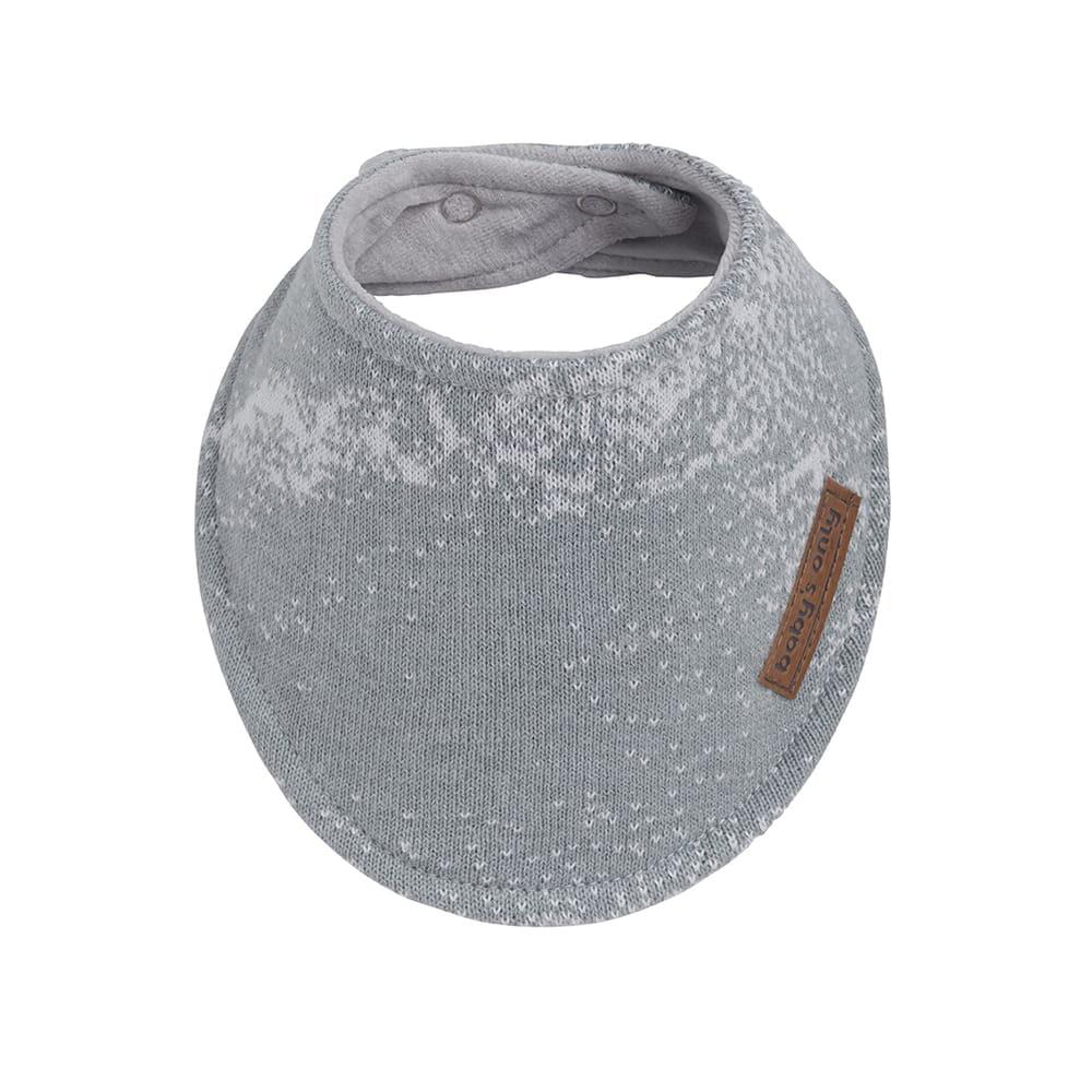 bavoir bandana marble grisgris argent