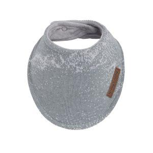 Bavoir bandana Marble gris/gris argenté