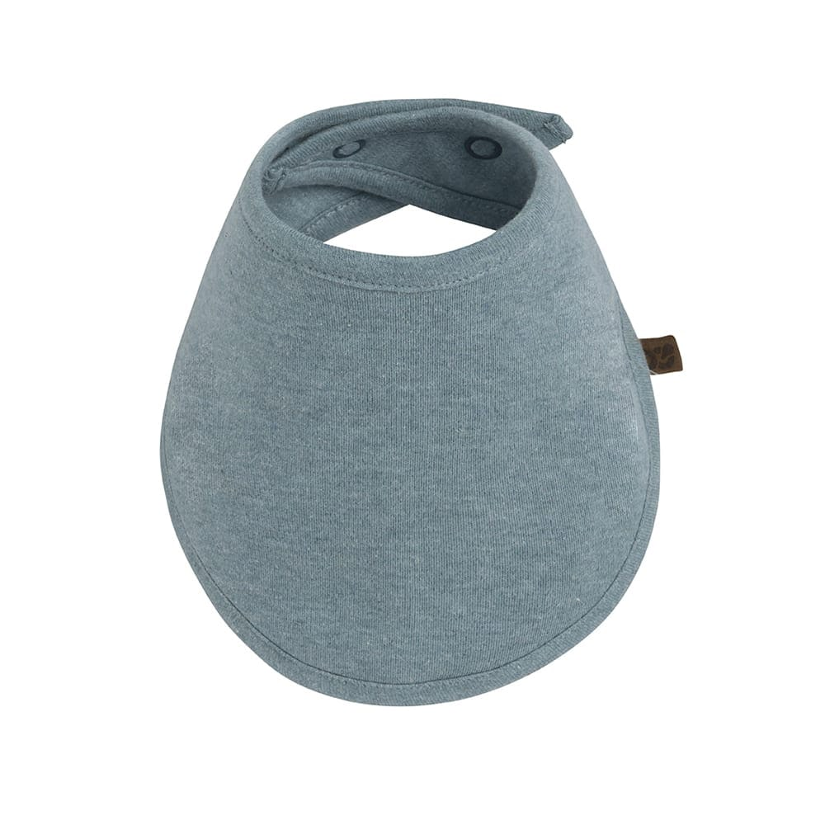 bavoir bandana melange stonegreen