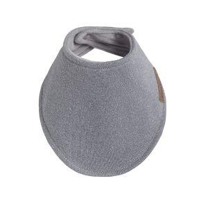 Bavoir bandana Sparkle gris-argent mêlé