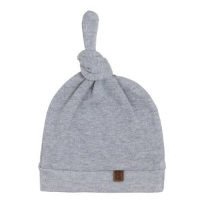Bonnet nouée Melange gris - 3-6 mois