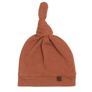Bonnet nouée Melange honey - 3-6 mois