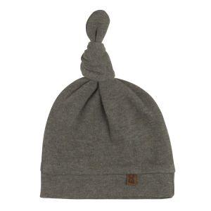 Bonnet nouée Melange khaki - 3-6 mois