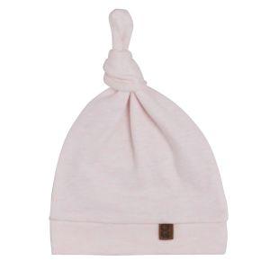 Bonnet nouée Melange rose très clair - 3-6 mois