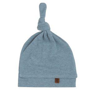 Bonnet nouée Melange stonegreen - 3-6 mois