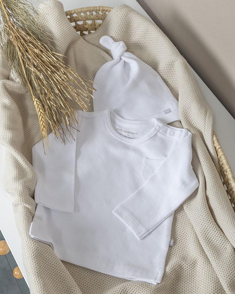 bonnet noue pure blanc 03 mois