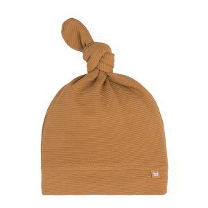 Bonnet nouée Pure caramel - 0-3 mois