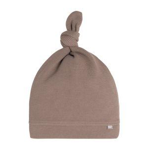 Bonnet nouée Pure moka - 0-3 mois