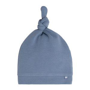 Bonnet nouée Pure vintage blue - 0-3 mois