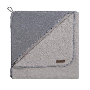 Cape de bain Sparkle gris-argent mêlé - 75x85