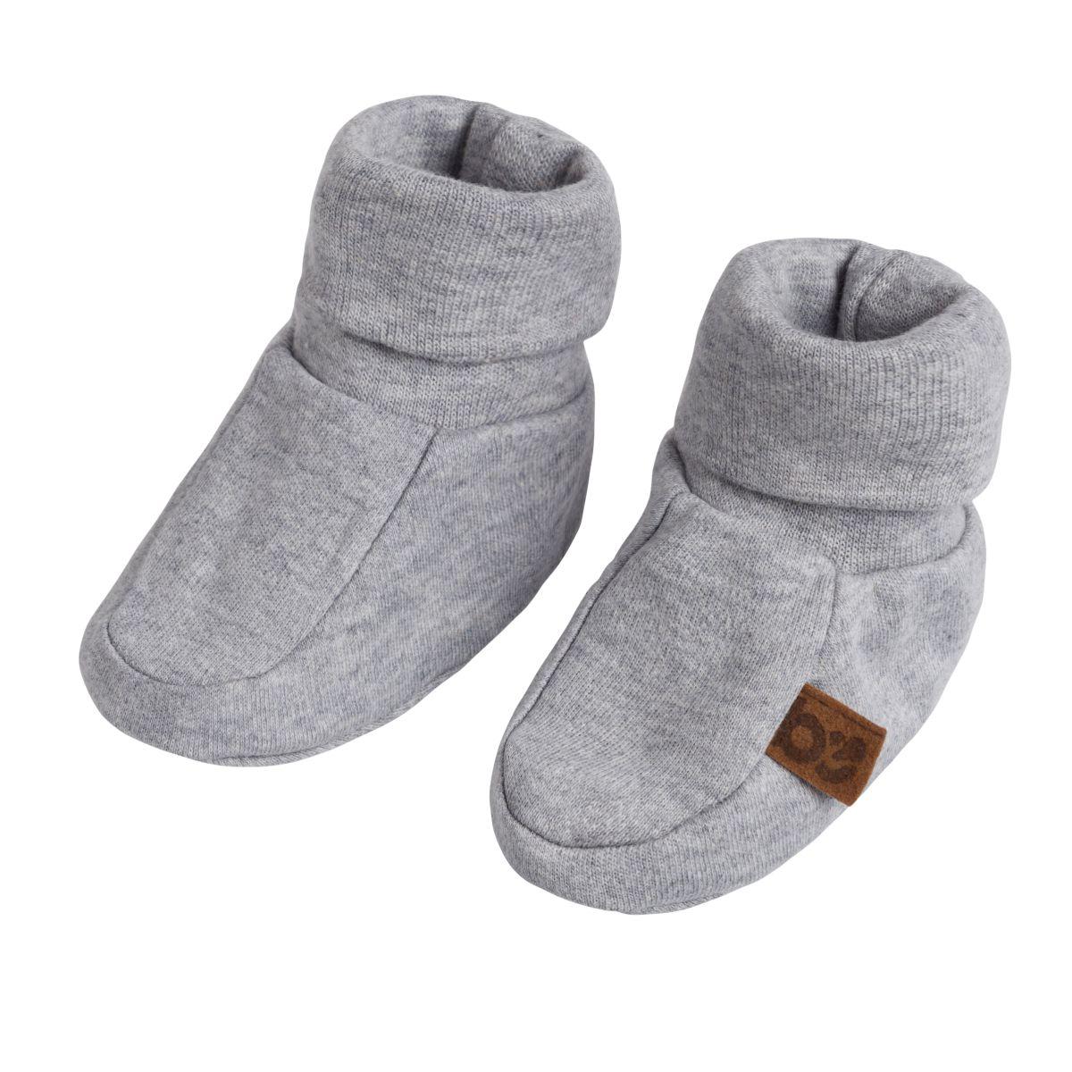 chaussons melange gris 36 mois