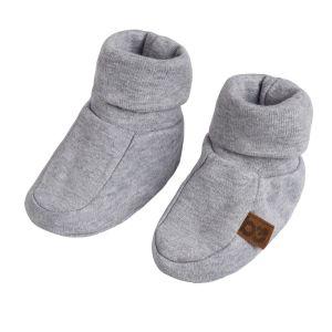 Chaussons Melange gris - 3-6 mois