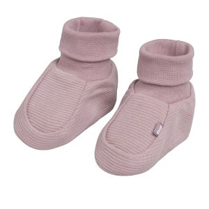 Chaussons Pure vieux rose - 0-3 mois
