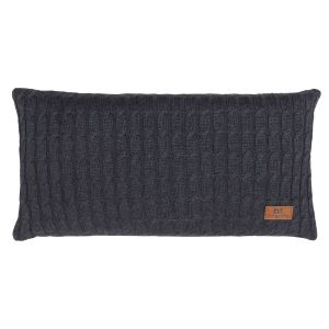 Coussin Cable anthracite - 60x30