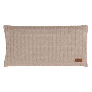 Coussin Cable beige - 60x30