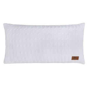 Coussin Cable blanc - 60x30