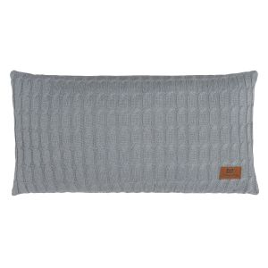 Coussin Cable gris - 60x30