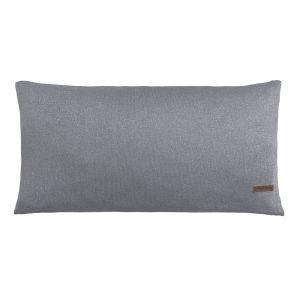 Coussin Sparkle gris-argent mêlé - 60x30