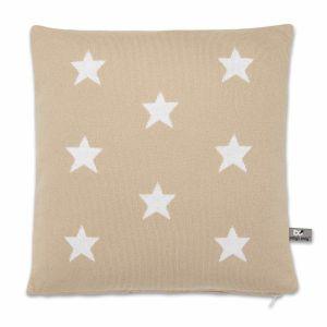 Coussin Star beige/blanc - 40x40