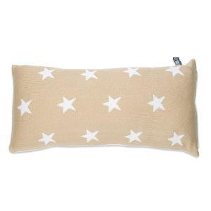 Coussin Star beige/blanc - 60x30