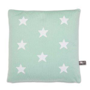 Coussin Star mint/blanc - 40x40