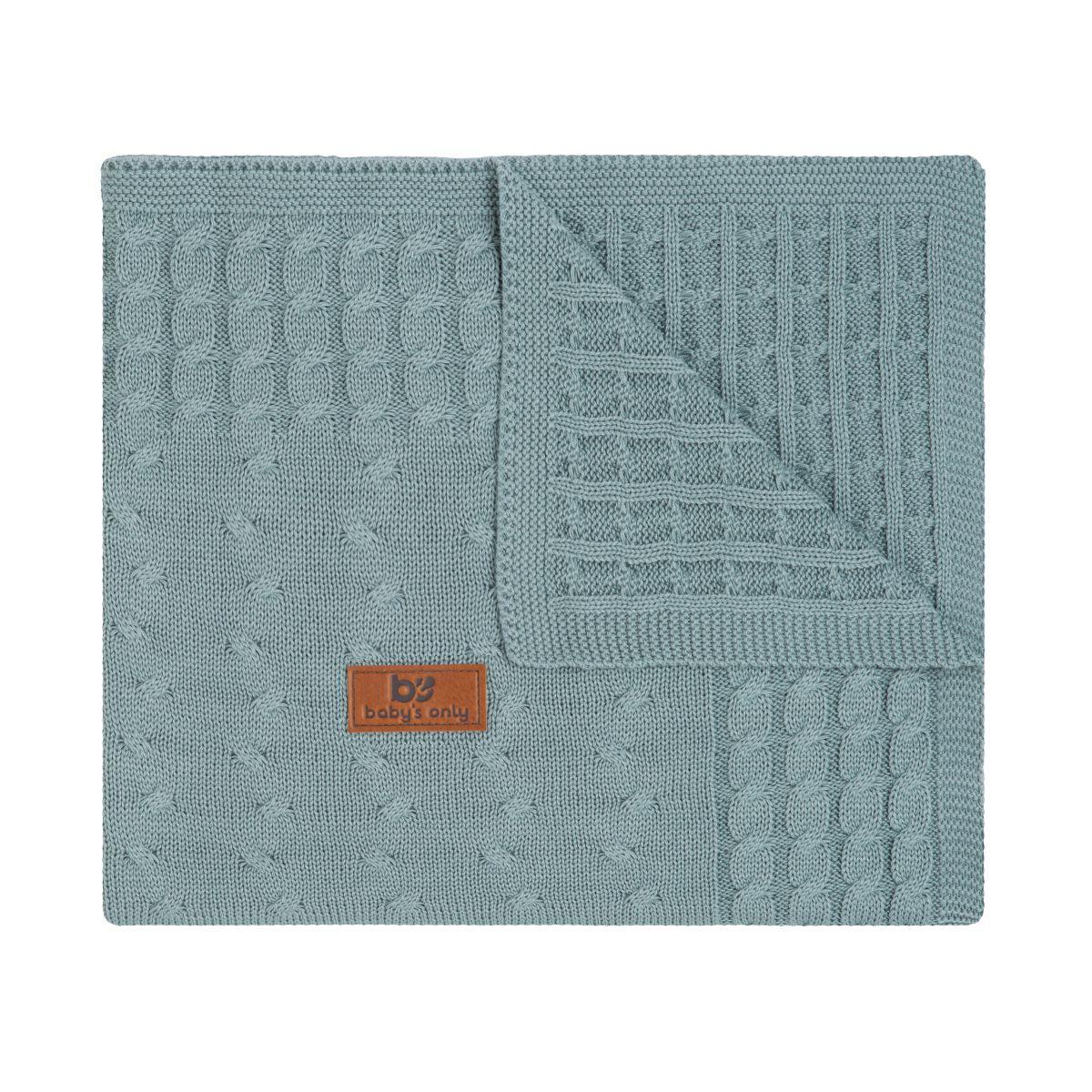couverture berceau cable stonegreen