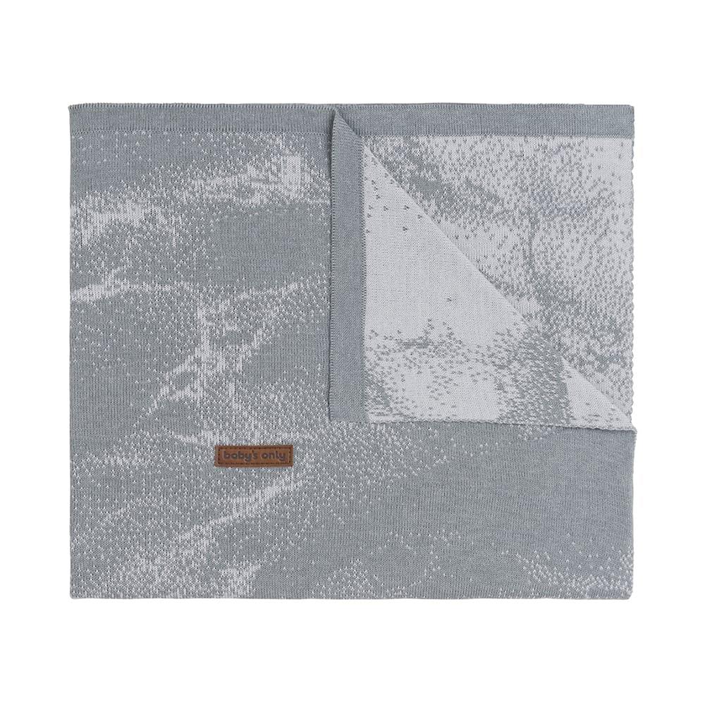 couverture berceau marble grisgris argent
