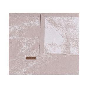 Couverture berceau Marble vieux rose/rose très clair