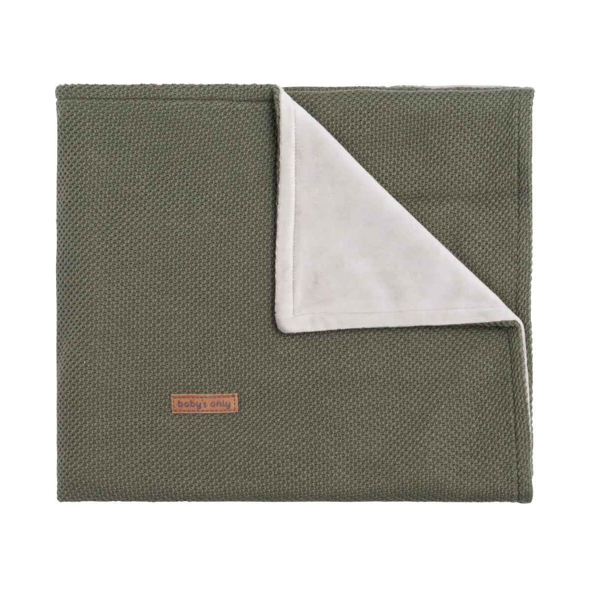couverture berceau soft classic khaki