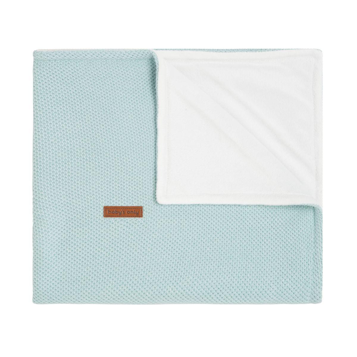 couverture berceau soft classic mint
