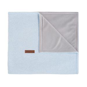Couverture berceau soft Classic poudre bleu