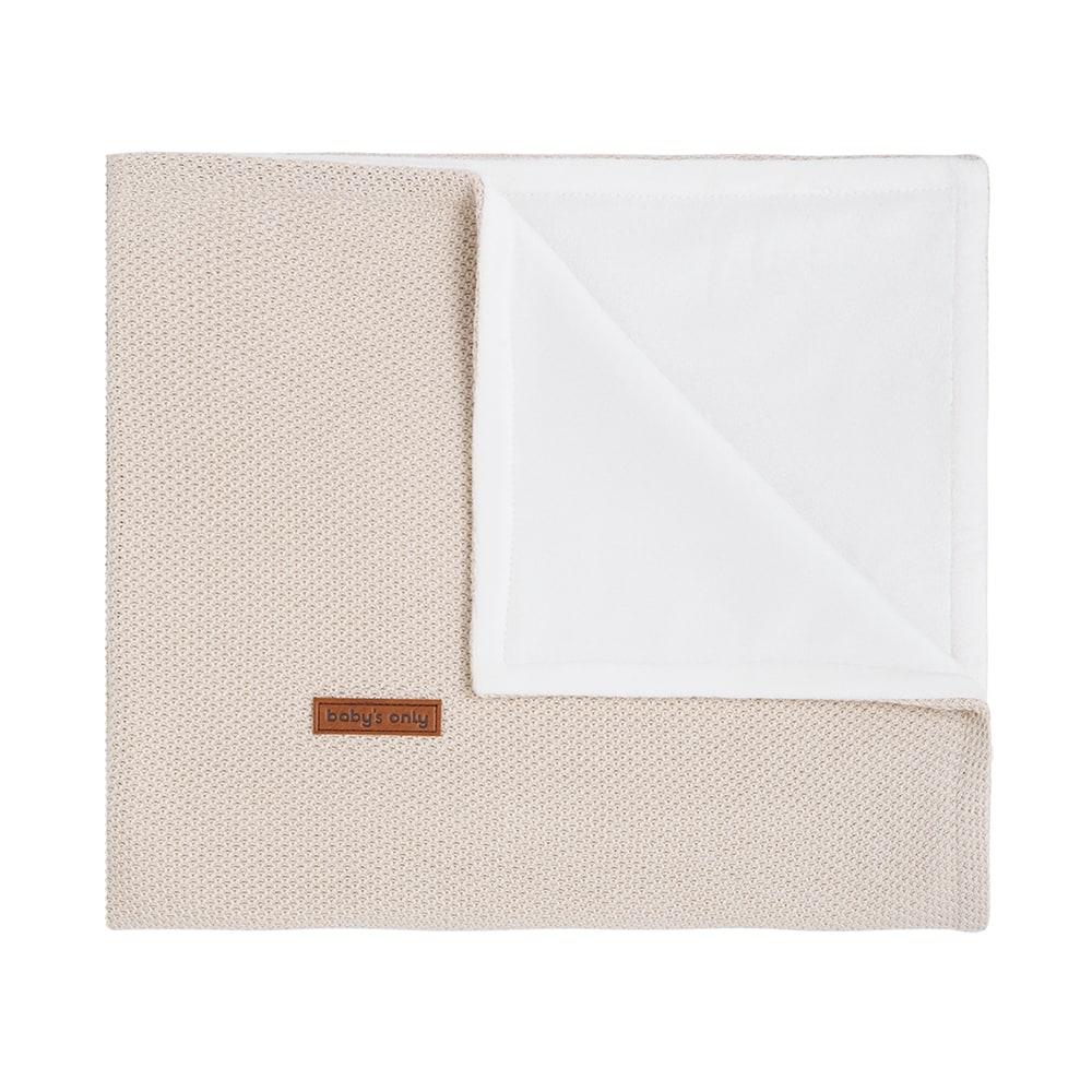 couverture berceau soft classic sable