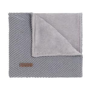 Couverture berceau soft Sparkle-Flavor gris-argent mêlé