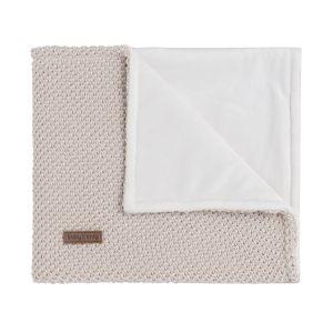Couverture berceau soft Sparkle-Flavor ivoire-doré mêlé