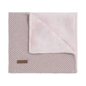 Couverture berceau soft Sparkle-Flavor rose-argent mêlé