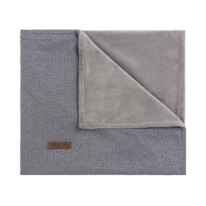 Couverture berceau soft Sparkle gris-argent mêlé