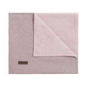 Couverture berceau soft Sparkle rose-argent mêlé