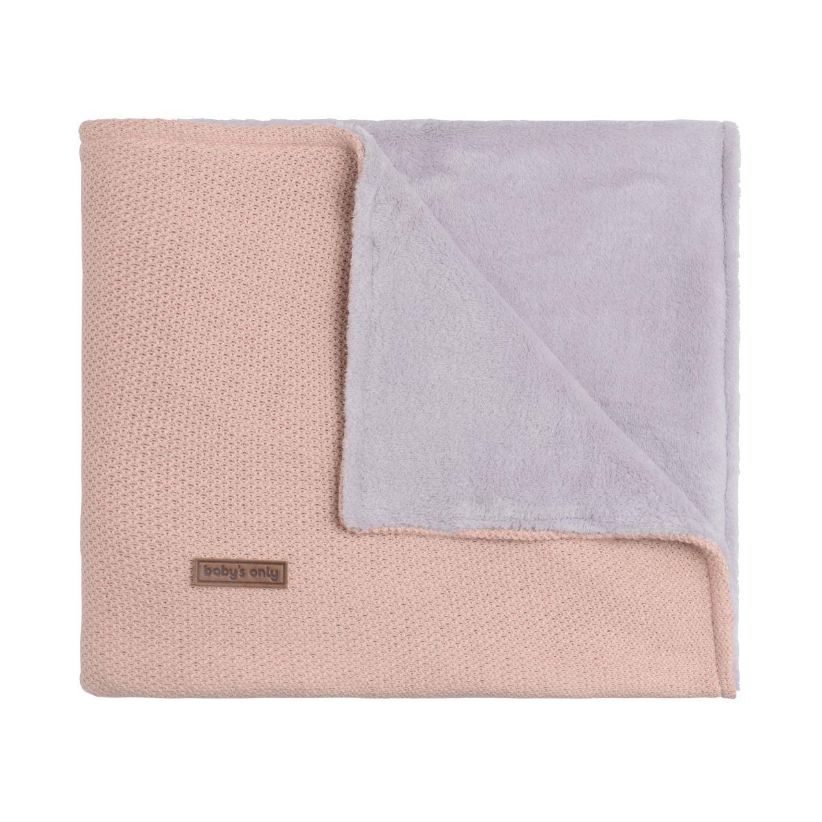 couverture berceau teddy classic blush