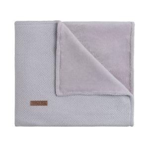 Couverture berceau teddy Classic gris argent