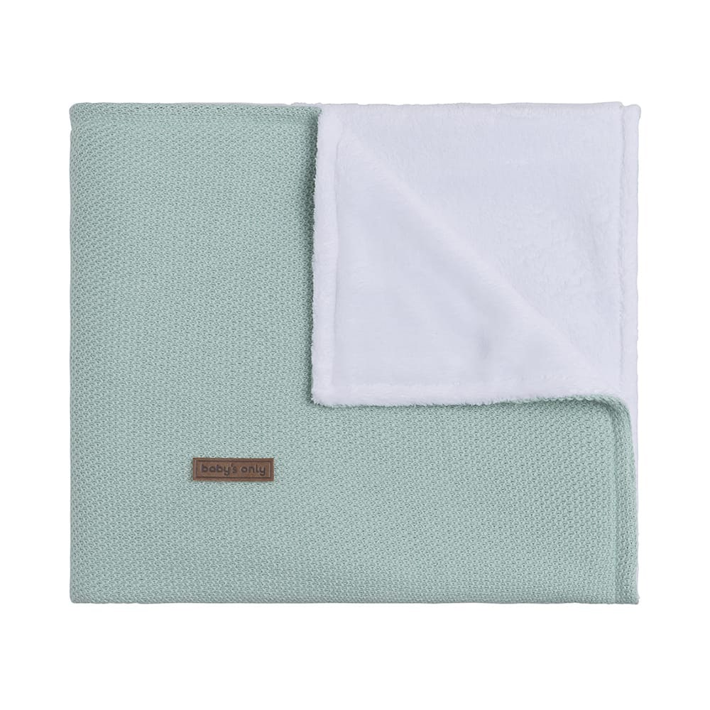 couverture berceau teddy classic mint