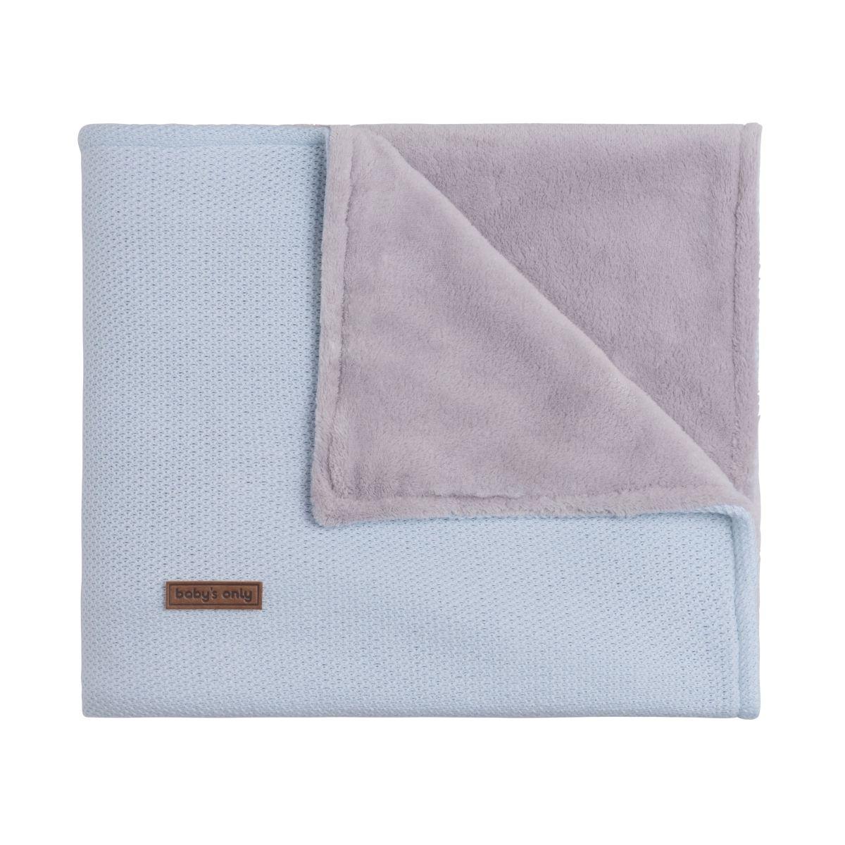 couverture berceau teddy classic poudre bleu