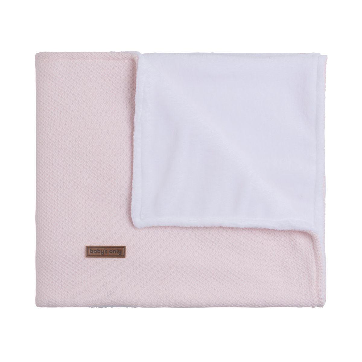 couverture berceau teddy classic rose trs clair