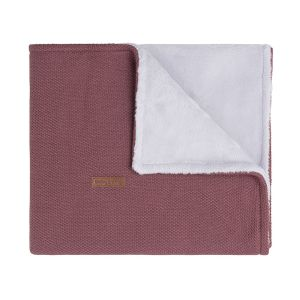 Couverture berceau teddy Classic stone red