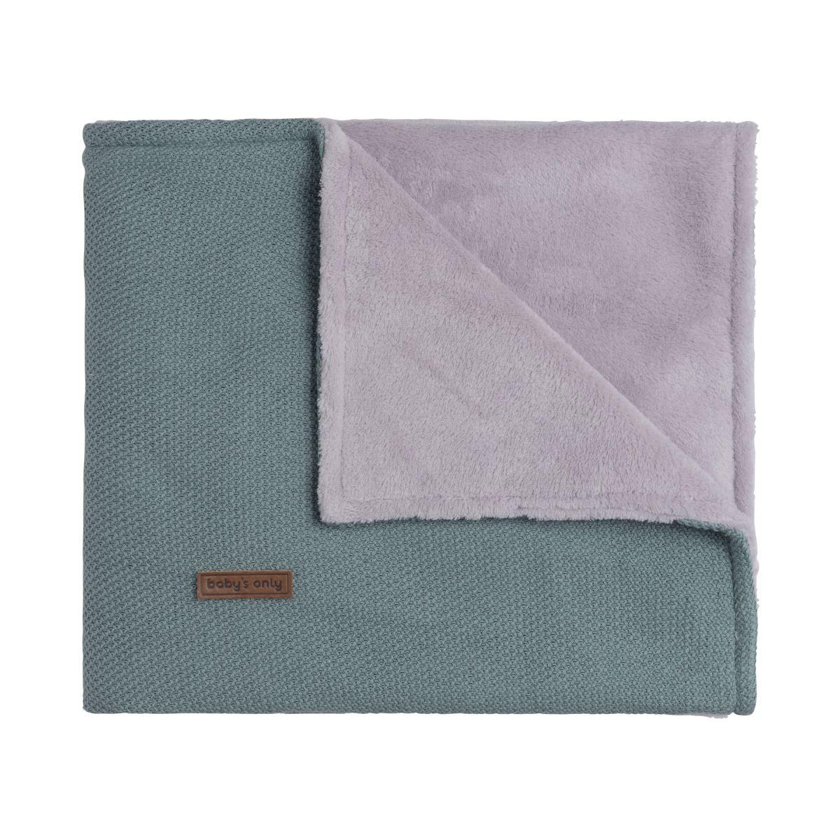 couverture berceau teddy classic stonegreen