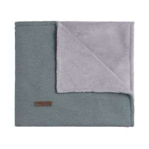 Couverture berceau teddy Classic stonegreen